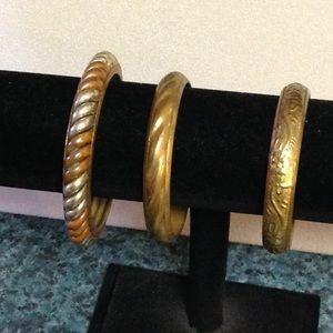 3 bangle bracelets bundle